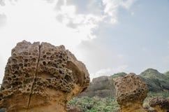 Горная порода на Yehliu Geopark Стоковые Изображения