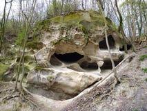 Горная порода песчаника с фантастическими формами Стоковые Изображения RF