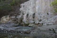 Горная порода Fosso Bianco в Тоскане стоковые фото