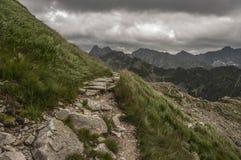 Горная тропа в высоком Tatras Стоковая Фотография