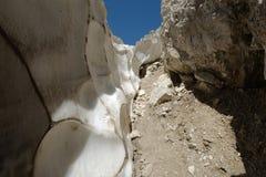 Горная тропа behing ледник Стоковое Изображение RF