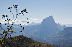 Горная цепь гористых местностей Annam в Лаосе Стоковое фото RF