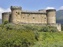 горная цепь Испания mombeltran gredos замока Стоковое Изображение
