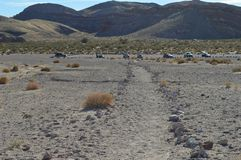 Горная цепь южной Калифорнии в пустыне Стоковое фото RF