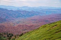 Горная цепь Hachimantai в сезоне осени Стоковое Фото