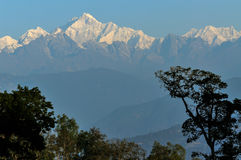 Горная цепь Kanchenjunga, Сикким стоковые фотографии rf