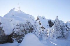 Горная цепь Zyuratkul, ландшафт зимы Стоковые Фото