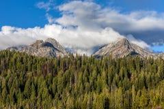 2 горного пика в Айдахо Стоковые Изображения RF