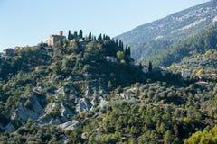 Горное село Coaraze, Провансаль Alpes Cote d'Azur, Франция стоковые изображения