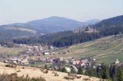 Горное село весной Стоковое фото RF