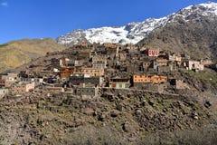Горное село в национальном парке Toubkal Стоковая Фотография RF