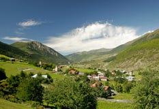 Горное село в Svaneti, Georgia Стоковое Фото