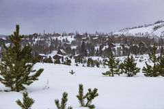 Горное село зимы Стоковая Фотография RF
