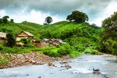Горное село Лаос стоковые фото