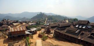 Горное село, положение Шани, Мьянма стоковое фото rf