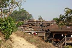 Горное село, положение Шани, Мьянма стоковые фото