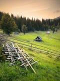 Горное село Carpatian Стоковые Фотографии RF