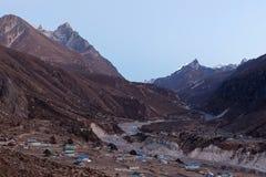Горное село Thame в соотечественнике Sagarmatha Стоковые Изображения
