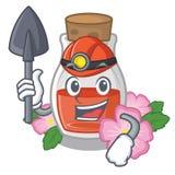Горнорабочий подняла масло семени форма мультфильма бесплатная иллюстрация