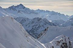 Горные вершины немца Snowy Стоковое Фото