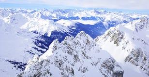 Горные вершины Тироля панорамы зимы Стоковые Фото