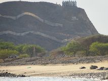Горные виды в Фуджейре - Объединенных эмиратах стоковые фотографии rf