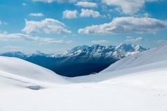 Горные пики зимы Стоковое Изображение RF