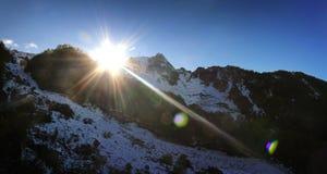 Горные пики Кавказа Стоковая Фотография RF