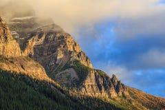 Горные пики Канады Стоковые Изображения