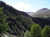 Горные пики, Швейцария Стоковые Фотографии RF