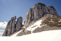 Горные пики Snowy Стоковое фото RF