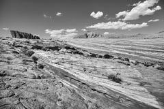 Горные породы в долине парка штата огня, США Стоковое фото RF