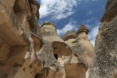 Горные породы в долине монахов Pasabag, Cappadocia стоковое изображение