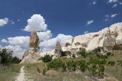 Горные породы в долине шпаг, Cappadocia Стоковое Изображение