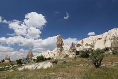 Горные породы в долине шпаг, Cappadocia Стоковое Фото