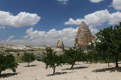 Горные породы в долине шпаг, Cappadocia Стоковая Фотография