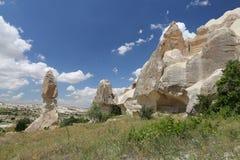 Горные породы в долине шпаг, Cappadocia Стоковые Изображения