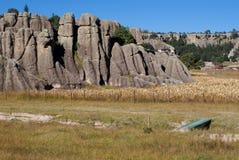 Горные породы медных каньонов, чихуахуа, Мексики Стоковые Изображения RF