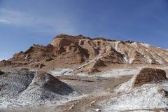 Горные породы долины луны, пустыни Atacama, Чили Стоковые Изображения