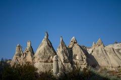 Горные породы Cappadocia в Goreme стоковые фотографии rf