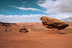 Горные породы Hoodoo, Аризона, США стоковое изображение