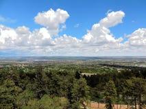 Горные склоны Колорадо-Спрингс Стоковые Фотографии RF