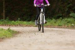 Горный велосипед катания на следе леса Стоковая Фотография RF