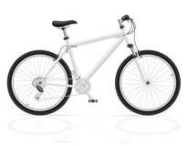 Горный велосипед с иллюстрацией вектора шестерни перенося Стоковая Фотография RF
