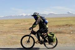 Горный велосипед людей задействуя Стоковые Фотографии RF