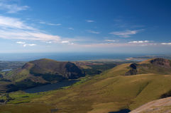 горный вид вэльс Стоковые Фото