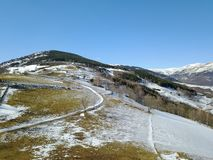 Горный вид в Пиренеи Стоковая Фотография RF
