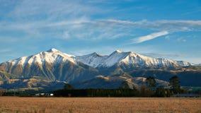 Горный вид на Спрингфилде, Новой Зеландии стоковые фото