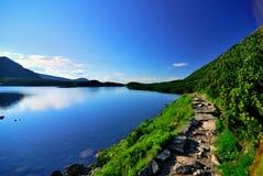 горный вид озера Стоковое Изображение RF