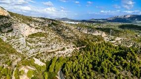 Горный вид от воздуха стоковое фото rf